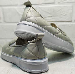 Модные туфли кеды женские кожаные Alpino 21YA-Y2859 Cream.