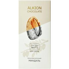 Alkion Extra Nuts Шоколад молочный 33% миндаль 90 г