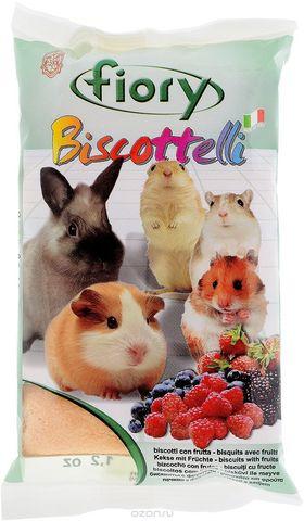 Fiory бисквиты для грызунов Biscottelli с ягодами 35г