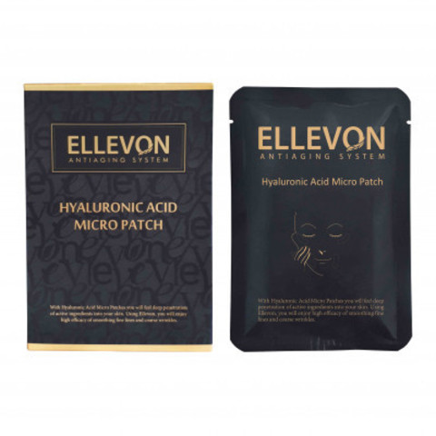 ELLEVON Патчи с микроиглами с гиалуроновой кислотой  | HYALURONIC ACID MICRO PATCH ELLEVON