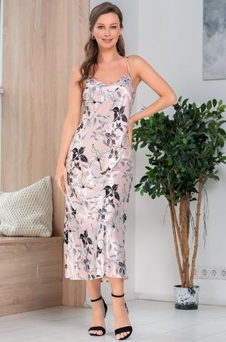 Длинная шелковая ночная сорочка Mia Amore Флавия (70% нат.шелк)