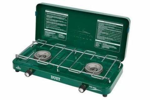 Плита газовая портативная DUET (TW-030), двухконфорочная