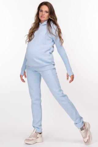 Утепленный спортивный костюм для беременных и кормящих 11900 голубой