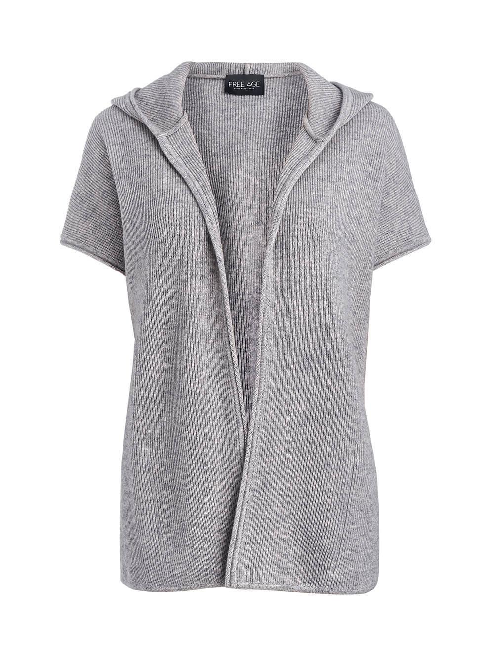 Женский жилет светло-серого цвета из 100% кашемира - фото 1