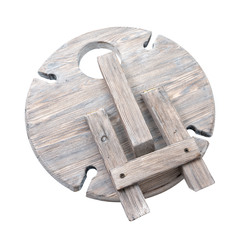 Столик винный складной сервировочный, серый, фото 3