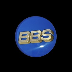 Крышка центрального отверстия BBS Forged Line 70.1 мм gold/blue (56.24.206)