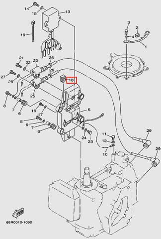 Уплотнитель для лодочного мотора Т30 Sea-PRO (9-18)