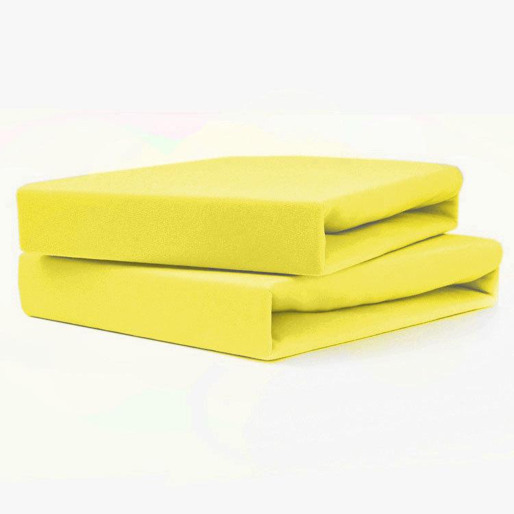 TUTTI FRUTTI лимон - Двуспальная простыня на резинке