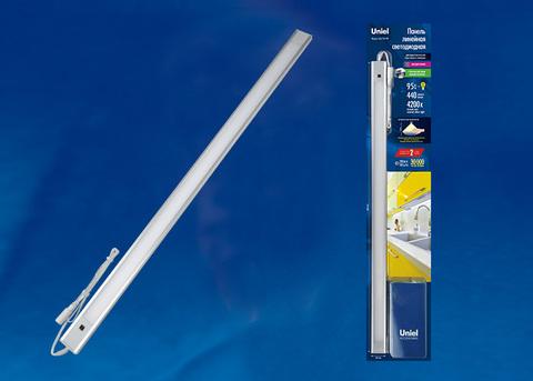 ULI-F40-9W/4200K SENSOR IP20 SILVER Светильник линейный светодиодный ультратонкий, с бесконтактным выключателем. 600Х30х8мм. 440Lm. Серебристый. ТМ Uniel