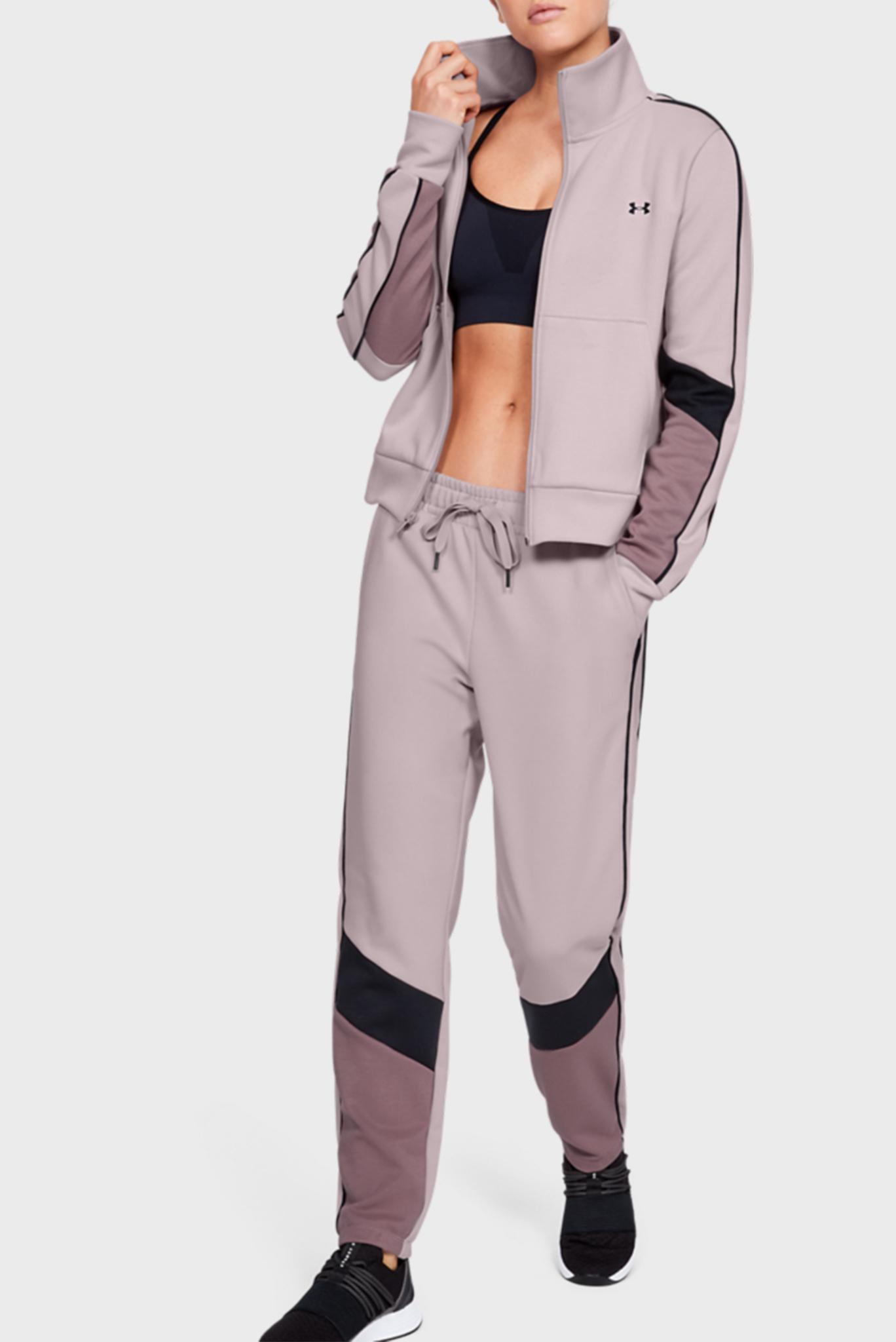 Женская розовая спортивная кофта Double Knit FZ Under Armour