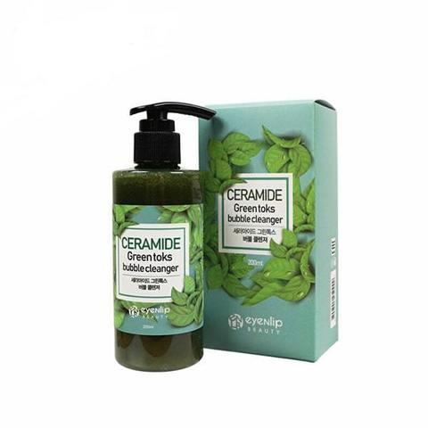 EYENLIP Пенка кислородная для умывания CERAMIDE GREEN TOKS BUBBLE CLEANSER 200мл