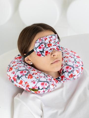 Подушка декоративная «Подголовник Сакура + маска для глаз»-2