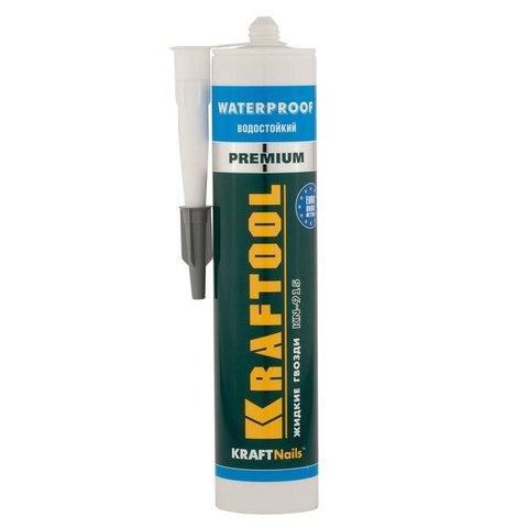 Клей монтажный KRAFTOOL KraftNails Premium KN-915, водостойкий с антисептиком, для ванн и душевых, 310мл