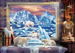 Алмазная Мозаика + Багет 30x40 Белые медведи на картине