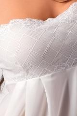 Полупрозрачная тюлевая сорочка Nicolette на тонких бретелях -