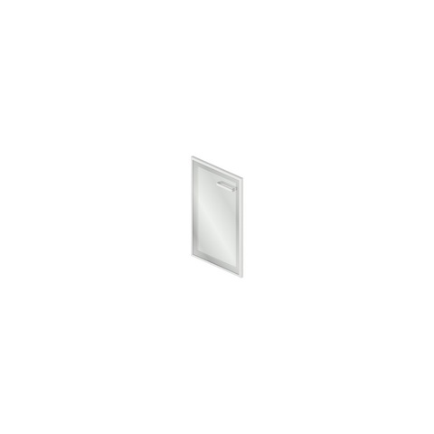GrO-03.1 Дверь стеклянная в рамке МДФ (45x2x70см)