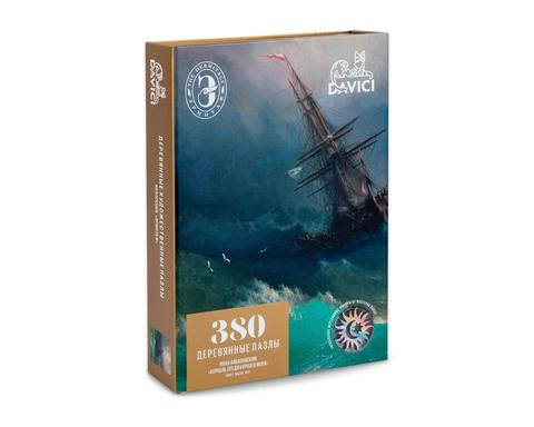 Корабль среди бурного моря от DAVICI - картина Ивана Айвазовского. Деревянный пазл с деталями разных формы,