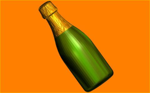 Шампанское под картинку. Форма для мыла пластиковая