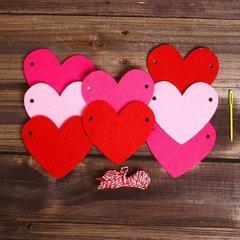 Набор для творчества — гирлянда своими руками «Сердечки», пластиковая игла, 1 набор.