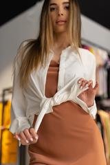 Платье-комбинация с рубашкой сверху купить