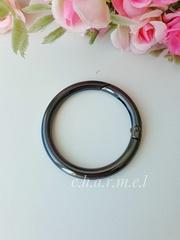 Карабин-кольцо темный никель, D 32 мм