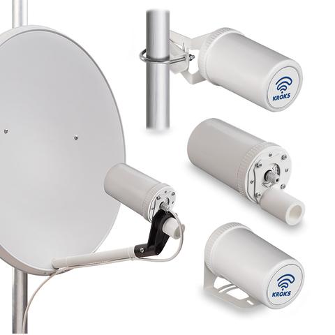 Комплект Kroks KSS-Pot MIMO для установки 3G/4G модема в параболический облучатель