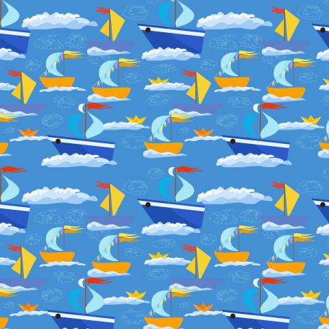 Кораблики в синем море