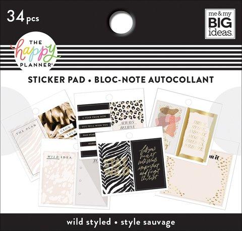 Блокнот со стикерами для ежедневника Happy Planner Tiny Sticker Pad -Wild Styled- 34 шт
