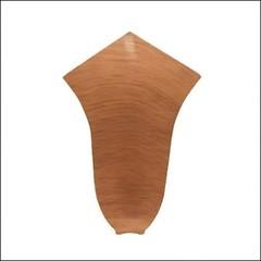 Угол внутренний для плинтуса ПВХ T-Plast (68 мм) Орех антик