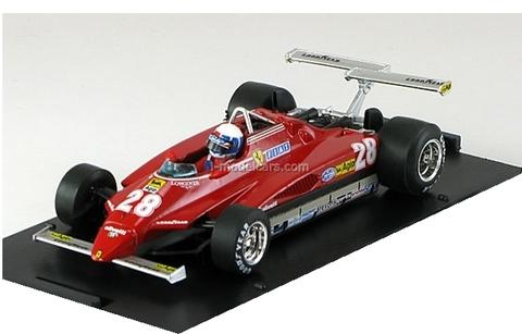Ferrari 126 C2 USA GP Long Beach F1 1982 D.Pironi N 28 - With Pilot Brumm 1:43