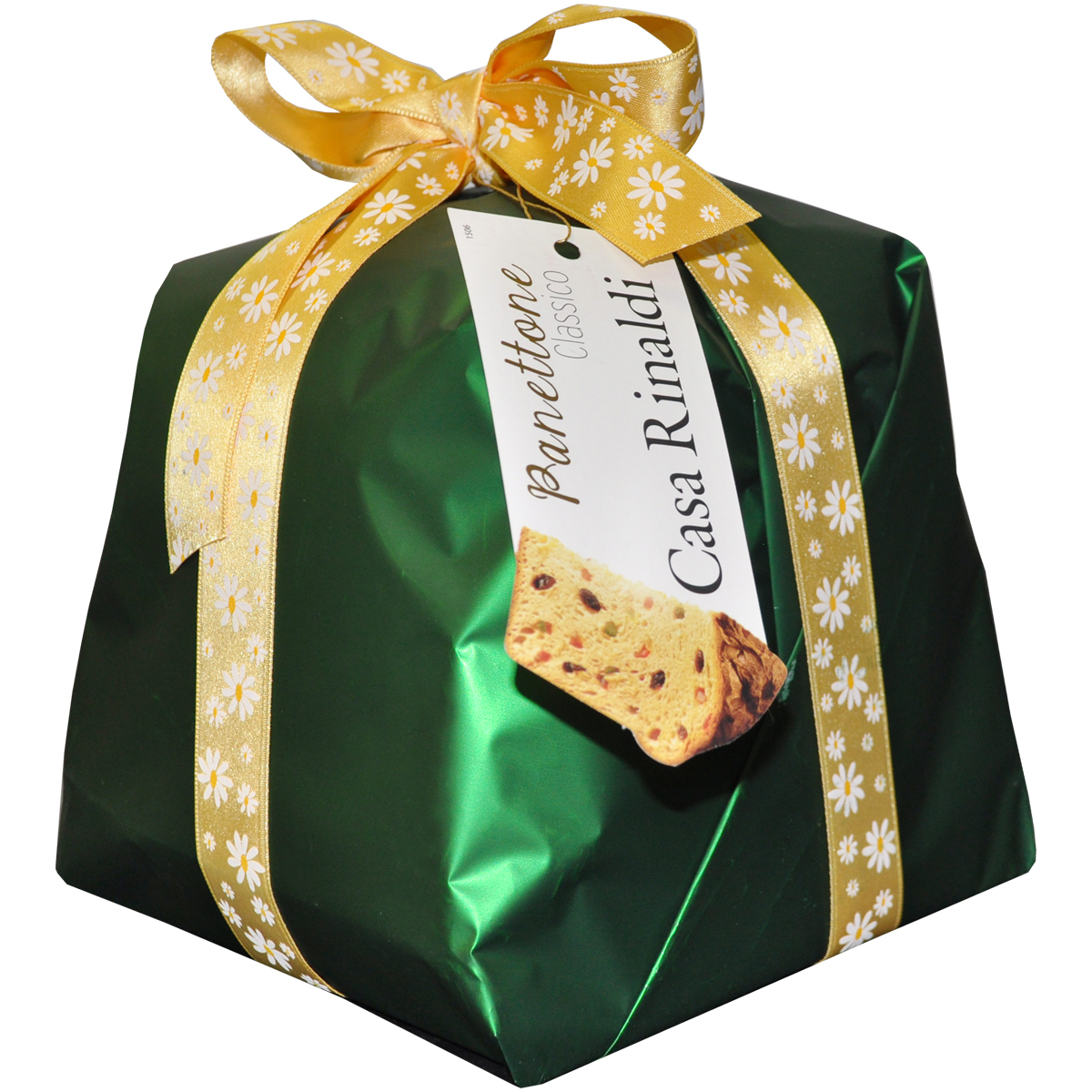 Кулич Классический Casa Rinaldi (зелёный) упакован вручную 750 г