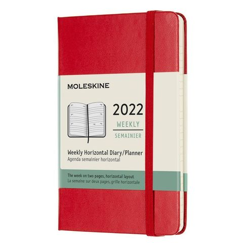 Еженедельник Moleskine (DHF212WH2) Classic WKLY Pocket 90x140мм 144стр. красный
