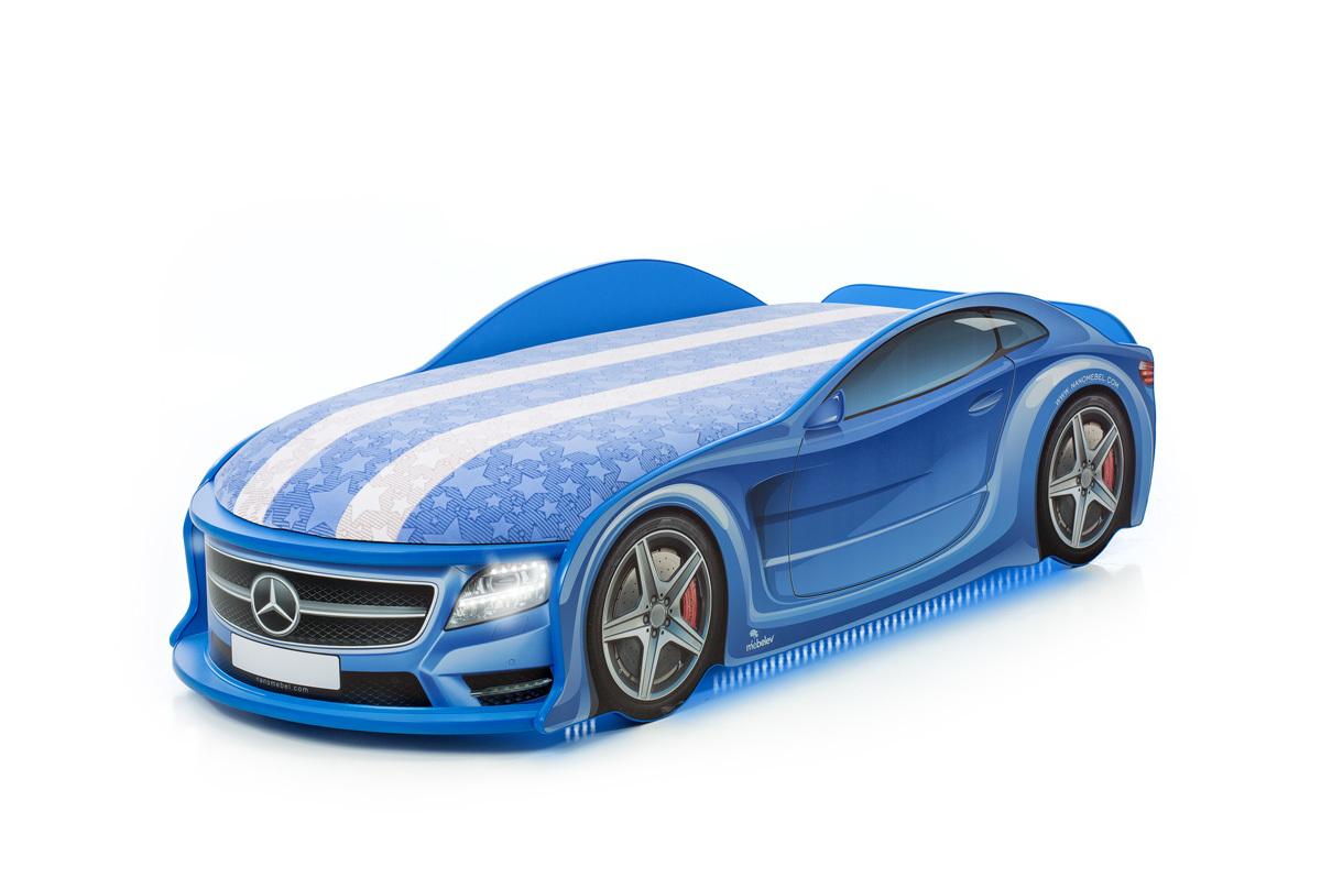 """Кровать-машина UNO """"Мерседес-М"""" синяя"""