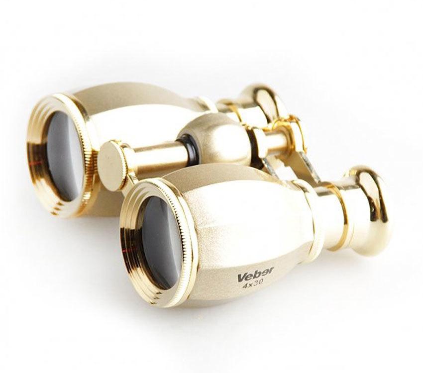 Бинокль Veber БГЦ 4x30 А03 шампань/золото с фокусировкой - фото 1