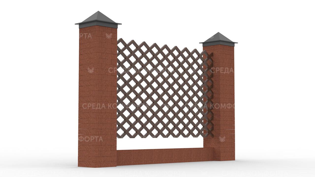 Деревянный забор ZBR0109