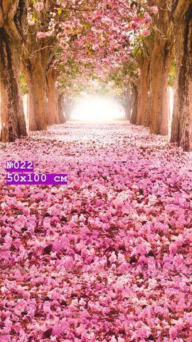 Фотофон виниловый стена-пол «Розовый лес» №022