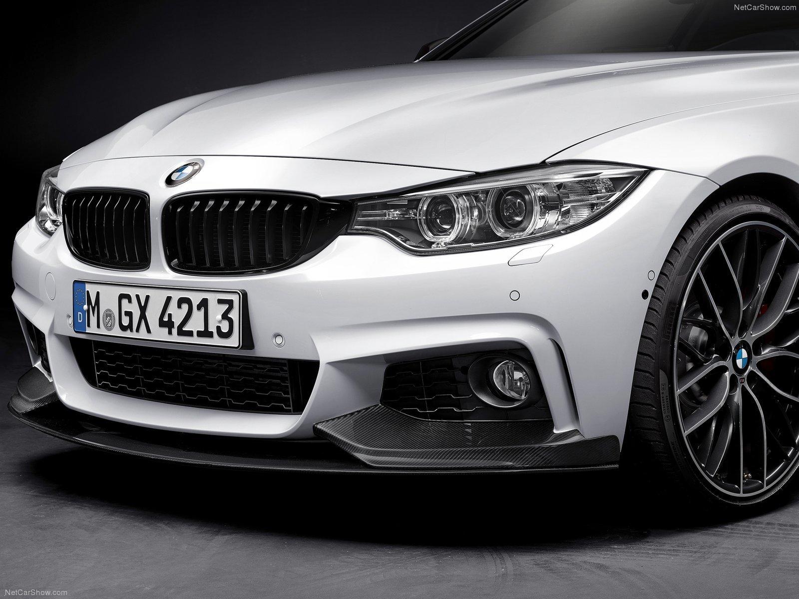 Карбоновые реснички на передние фары Performance Style для BMW 4er
