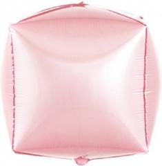 К Шар 3D Куб, Розовый, 24''/61 см, 1 шт.