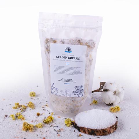 Salt of the Earth, Смесь соли и трав для ванн Golden Dreams (календула и ромашка), 400гр