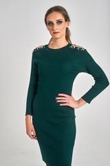 Трикотажное платье украшенное бусинами Nadya
