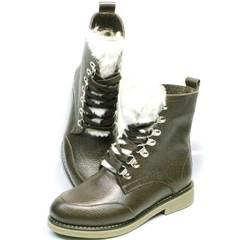 Ботинки женские зимние на шнуровке Studio27 576c Broun.