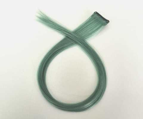 Пряди для волос, цвет туманно-зелёный. Длина 47см. (1410)