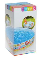Бассейн детский жёсткий борт INTEX Пляж диаметр 152 см 56451NP