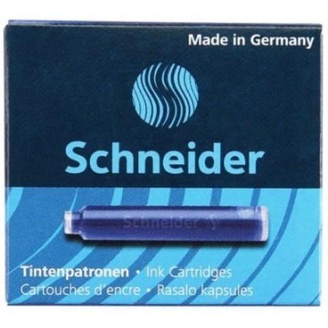 Чернила в патронах Schneider синие (6 штук в упаковке)