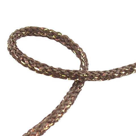 Шнур металлизированный круглый MAIA Satab №1713