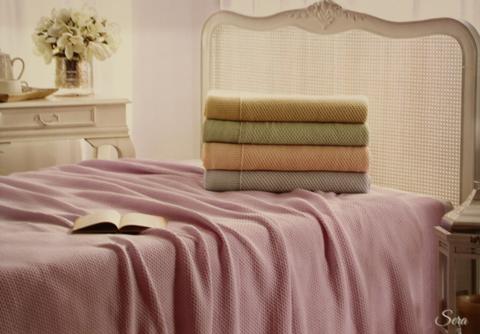 Покрывало вязаное 2-спальное Tivolyo home SERA 230x250 см розовое