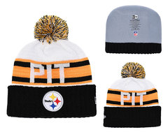Шапка вязаная с помпоном и с логотипом НФЛ Питтсбург Стилерз (NFL Pittsburgh Steelers)
