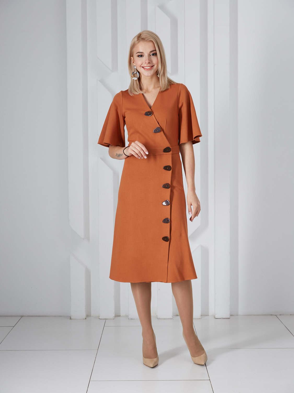 Платье plt-51779f/корица