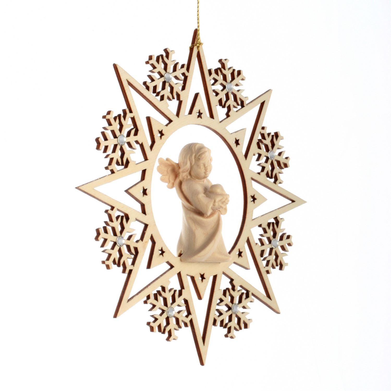Ангел с сердцем со стразами Сваровски