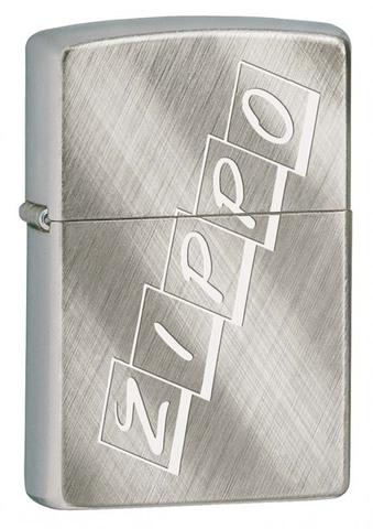 Зажигалка Zippo, латунь с покрытием Brushed Chrome, серебристая, матовая, 36x12x56 мм